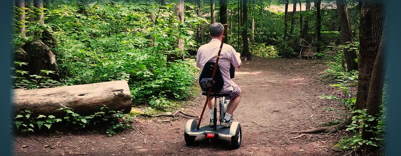 Triad Scooter in the Woods