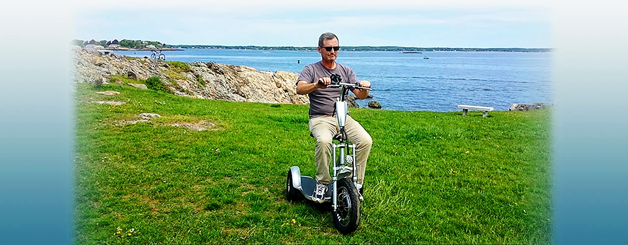 Triad Scooter by the Ocean