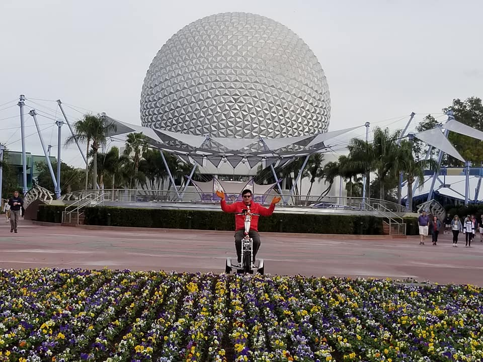 The Triad Scooter with the Epcot Ball